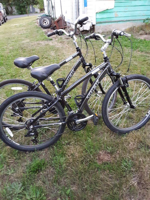 Two trek bikes