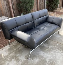 Modern Leather Bed Fold Down Couch for Sale in San Diego,  CA