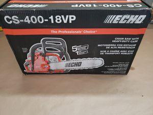 ECHO GAS CHAINSAW 40.2CC 18' BAR&CHAIN VALUE PACK CS-400-18VP for Sale in Greenville, SC