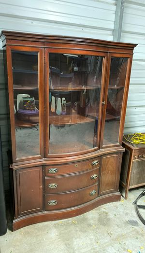 Antique China Cabinet (solid wood) for Sale in Alpine, CA