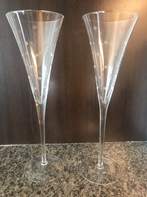Kate Spade NEW Lenox Larabee Dot Toasting Flutes, Pair for Sale in Austin, TX