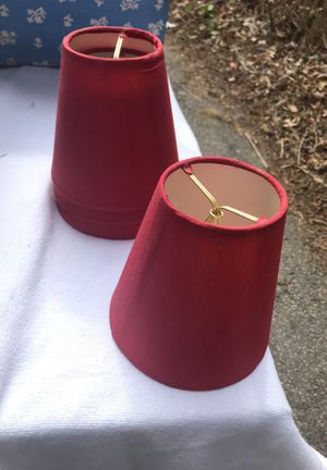 Lamp shades (4 Set) Small Maroon for Sale in Arlington, MA