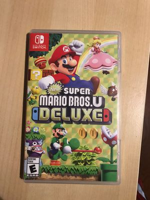 New Super Mario Bros.U Deluxe for Nintendo Switch for Sale in Durham, NC