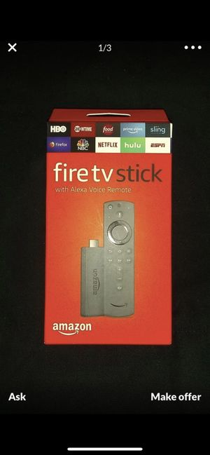 Amazon fire tv stick with Alexa voice remote $25 for Sale in Vancouver, WA