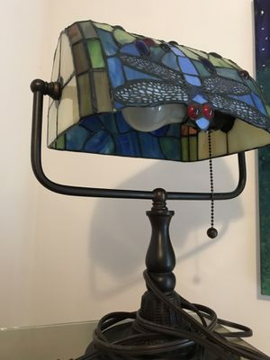 Dragonfly stain glass lamp for Sale in Issaquah, WA