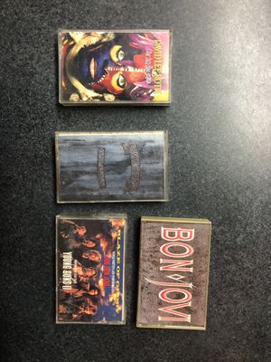 Bon Jovi and David Lee Roth Cassettes - titles are pictured for Sale in Griswold, CT