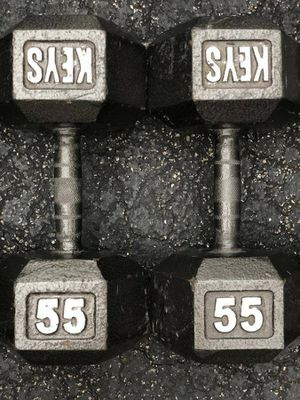 55 LB. HEX DUMBBELLS for Sale in Deerfield Beach, FL