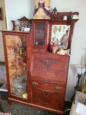 Antique Secretary desk with cabinet for Sale in Fresno, CA