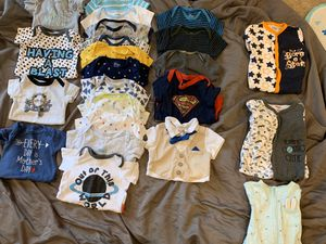 3-6 month boy onesies and sleepers for Sale in Stafford, VA