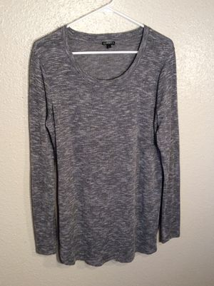 Brand New Grey Women's HANNAH Long Sleeve T-Shirt Dress Tunic Sweater in package - Size S-Mh for Sale in Austin, TX
