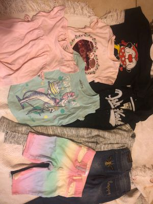 Girl clothes bundle 4/5 4 5 toddler clothes clothing jeans leggings shorts shirts hoodie for Sale in Pompano Beach, FL