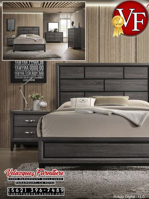 *REDUCED PRICE* GRAY BEDROOM SET BED+DRESSER+MIRROR+NIGHTSTAND $549 for Sale in Anaheim, CA