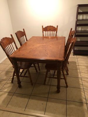 Pure wood dinning table (chairs included) for Sale in West Los Angeles, CA