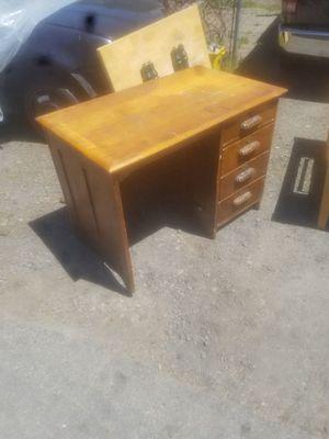 antique desk - solid oak for Sale in Milwaukie, OR