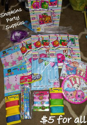 Shopkins party supplies for Sale in Fort Myers, FL