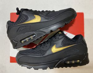 Air Max 90 Black Gold Size 10 for Sale in Montclair, CA