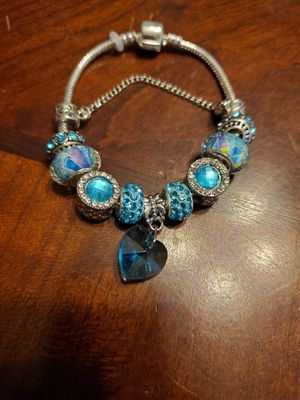Blue Heart Charm Bracelet for Sale in Hiram, GA