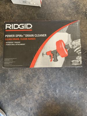 Ridgid power spin+ drain cleaner for Sale in Glendora, CA