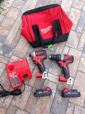 Milwaukee 18v brushless drill set for Sale in Montebello, CA