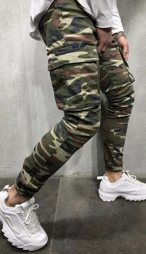 Camouflage cargo jeans stretchy skinny super trendy made in turkey for Sale in Los Angeles, CA