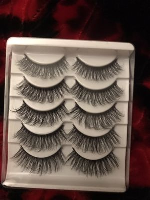 5 pair eyelashes for Sale in Tacoma, WA