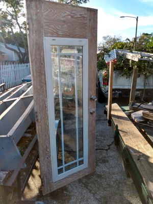 Exterior door ready to paint for Sale in St. Petersburg, FL