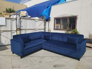 NEW 7X9FT DOMINO NAVY FABRIC COMBO SECTIONAL COUCHES for Sale in Henderson, NV