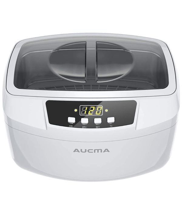 Ultrasonic Cleaner, Professional 160 Watts 2.5L Heated Ultrasonic Jewelry Cleaners Industrial Grade with Digital Timer for Home & Commercial (White)
