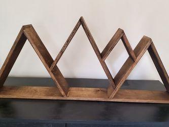 Mountain Shelf Wood Hamd Made Natural Brown Stain for Sale in Auburn,  WA