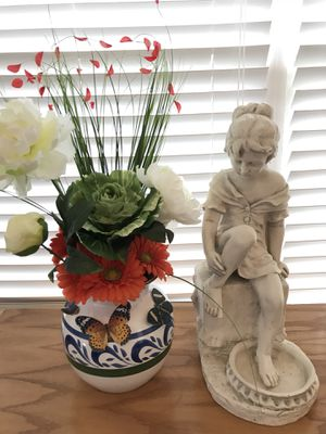 Beautiful! Silk Flower Arrangement in gorgeous porcelain Vase for Sale in Gainesville, VA