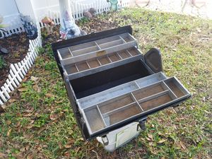 Old Kennedy aluminum fishing tackle box for Sale in St. Petersburg, FL