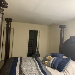 Queen Sized Bed Frame and Dresser for Sale in Pikesville, MD