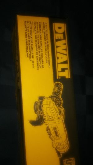 DeWalt paddle switch small angle grinder with no lock on for Sale in Santa Maria, CA