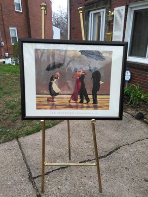 "Gold Easel 63"" height(Pic NOT included) holds large pics/paintings for Sale in Pittsburgh, PA"