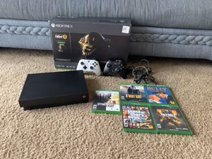 Microsoft Xbox One X 1TB Console, Controllers, Games, Headset Bundle for Sale in CORP CHRISTI, TX