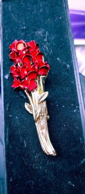 Vintage Bunch Red Roses Brooch for Sale in Sparks, NV