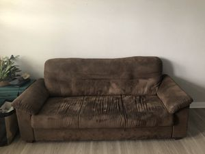 Comfy Suede couch for Sale in Charlotte, NC