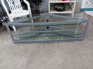 Make offer 3 shelves glass coffee table/ entertainment center for Sale in Vista, CA