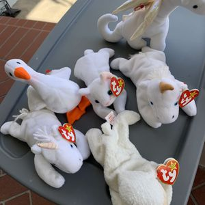 Beanie baby bundle - All White for Sale in Whittier, CA