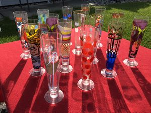 Tall glasses always separate artists paintings on them collectible for Sale in Vacaville, CA