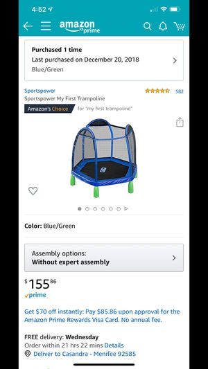 Trampoline For Kids for Sale in Romoland, CA