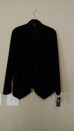 New with tag Style & Co XL black faux suede jacket for Sale in North Las Vegas, NV