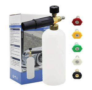 """Foam Cannon 1 L Bottle Snow Foam Lance with 1/4"""" Quick Connector, 5 Nozzle Tips for Pressure Washer for Sale in Garden Grove, CA"""