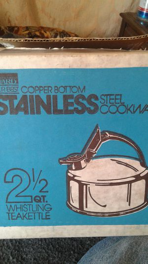 Tea Pot stainless & copper for Sale in Gibsonton, FL