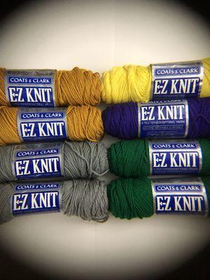 Lot of Coats & Clark 4ply 100% Du Pont Acrylic E-Z Knit Yarn for Sale in Edgewood, WA