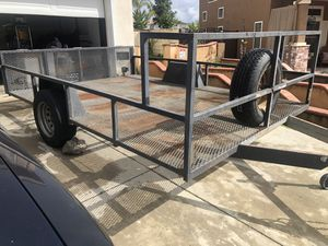 11.7ft x 7ft Trailer all metal with ramp for Sale in Lake Elsinore, CA