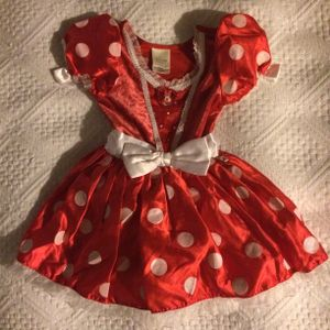 DISNEY STORE Minnie Mouse Red Polka Dot dress costume for Halloween 2-3T for Sale in Los Angeles, CA