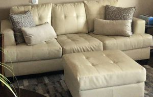 Sofa Bed and Ottoman for Sale in Riverside, CA