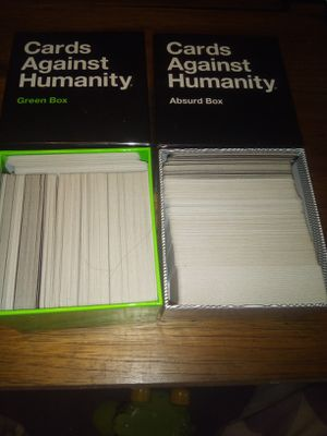 Cards against humanity green and absurd boxes for Sale in Ruston, LA