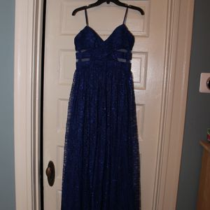 Hailey Logan By Adriana Papell Blue Sparkly Prom Dress for Sale in Oak Park, IL